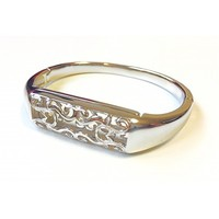 Beautiful Silver Metal Band With Floral Ornaments For Fitbit Flex 2