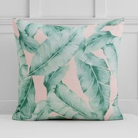 The Emily & Meritt Palm Print Euro Pillow Cover