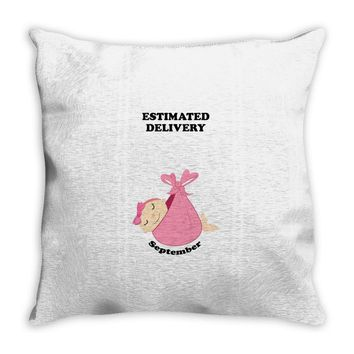 Estimated Delivery September Baby Girl Throw Pillow