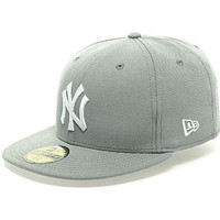 New Era 5950 NEW YORK YANKEES Gray White Cap MLB Baseball Fitted Hat NY