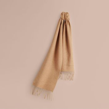 "Burberry Children's ""The Mini Classic Cashmere Scarf"" - Camel - NWT"