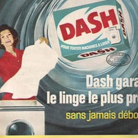 Laundry Room Decor 1963 French Advertisement Dash Laundry Detergent Ad Mod Laundry Room Retro Laundry Retro Cleaning
