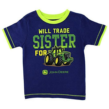 John Deere Little Boys' Will Trade Sister T-Shirt, Navy, 2T