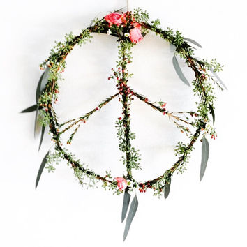 Flower Peace Wreath