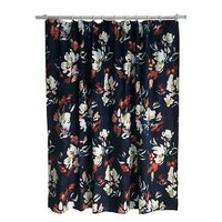 Floral Print Shower Curtain Blue - Threshold™