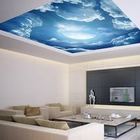 Ceiling STICKER MURAL sky clouds cupola dome moon airly air decole poster 13'10 x 15'