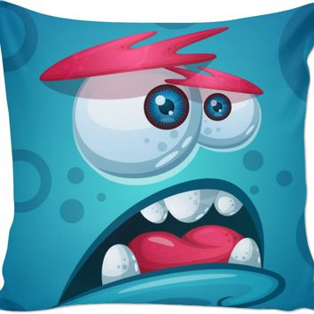 ROCO Blue Monster Couch Pillow