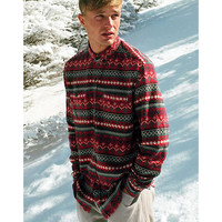 Stapleford Cledus Fair Isle Button-Down Flannel Shirt - Urban Outfitters