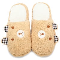 Fall/Winter Lovers' Bear Slippers Warm Soft Cotton Home Shoes * free shipping *
