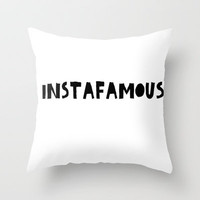 INSTAfamous White Throw Pillow by Lucy Helena