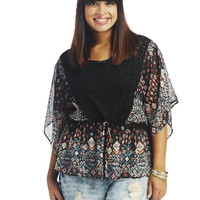 Aztec Circle Blouse | Wet Seal+
