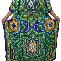 Mogul Womens Ella Maxi Caftan Kaftan Cruise Cover Up Dress One Size: Amazon.ca: Clothing & Accessories