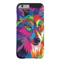 Colorful Wolf Painting Case-Mate Barely There iPhone 6 Case