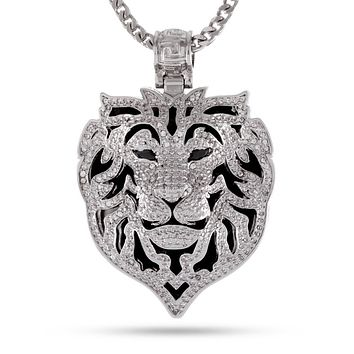 The White Gold Phantom Lion Necklace