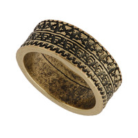 Aztec Engraved Ring - Mens Jewelry - Men's Accessories - TOPMAN USA