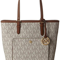 Michael Kors Medium Jet Set Top Zip Tote - Vanilla