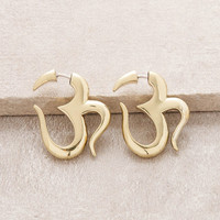 Brass Om Tribe Earrings