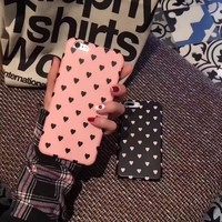 Spring Summer Women Girl Heart Phone Case for iphone7 7Plus 6 6s Plus