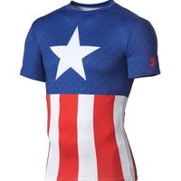 Under Armour Men's Alter Ego Captain America Compression Short Sleeve Shirt