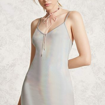 Iridescent Mini Dress