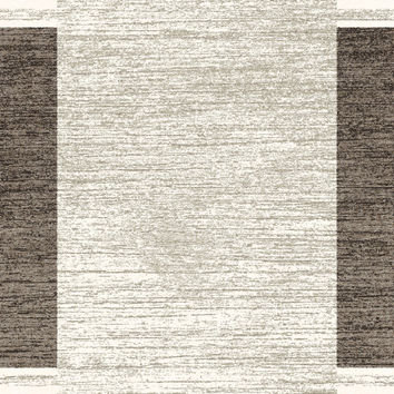 Dynamic Rugs Infinity Silver/Black Modern Rectangle Area Rug