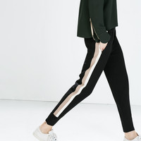 Combination trousers with cuffed hem