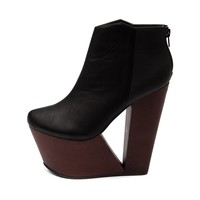 Womens Shi by Journeys Deejay Wedge Bootie, Black | Journeys Shoes