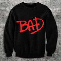 9100 BAD tribute MiCHAEL JACKSON SWEATSHiRT vintage retro 80s 90s MJ
