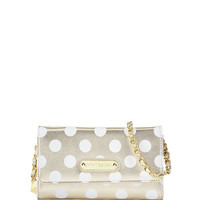 Hocus Polkas Faux-Leather Wallet, Gold