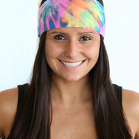 Hippie Tie Dye Print | Fitness headband | Yoga headband | Fashion headband | Spandex | Non-slip headband | Bandana | Buy Any 5, Get 1 FREE!