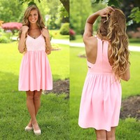 Sweet Summer Romance Dress in Pink