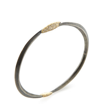 Alexis Bittar Fine Women's 18K Yellow Gold & Pave Diamond Bangle Bracelet