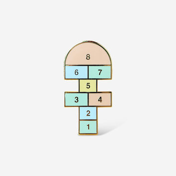 Hopscotch Brooch