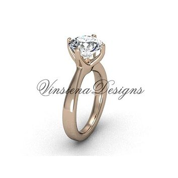 14kt rose gold engagement ring, wedding ring VD10020
