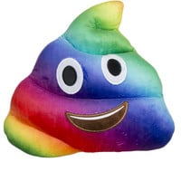 RAINBOW POOP EMOJI PILLOW