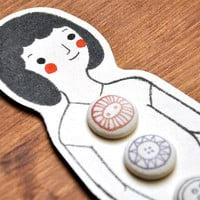 Mademoiselle Fabric Covered Buttons