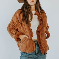 Free People: Dolman Quilted Jacket