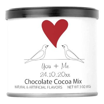 Red Heart Cute White Doves in Love Hot Chocolate Drink Mix