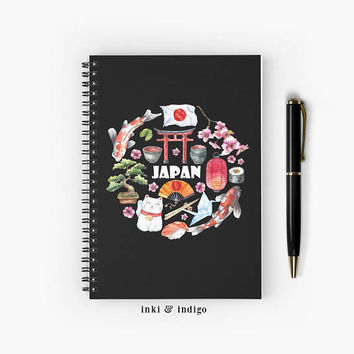 Japan - Spiral Notebook With Lined Paper, A5 Writing Journal, Diary, Lined Journal, Japan Travel Journal, Tokyo