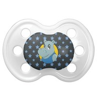 Cute hippopotamus cartoon BooginHead pacifier