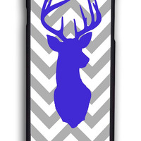 Cute Reindeer With Simple Chevron for Iphone 6 Hard Cover Plastic