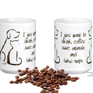Pet Lover Coffee Mug - Dog Mom - Rescue Dog - Rescue Cat - Mothers Day Dog Mug - Dog Lover Mug - Animal Lover Mug - Pet Lover Gift -