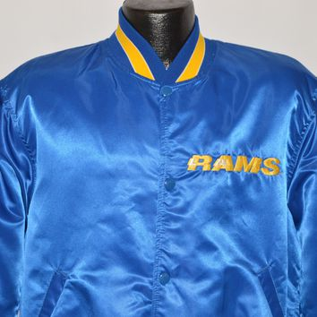 80s Los Angeles Rams Snap Up Starter Jacket Large