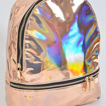 Metallic Holographic Backpack
