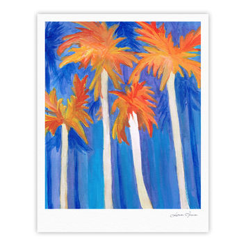 "Rosie Brown ""Florida Autumn"" Blue Orange Fine Art Gallery Print"