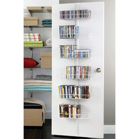 The Container Store > White elfa Door & Wall Rack Media System Components