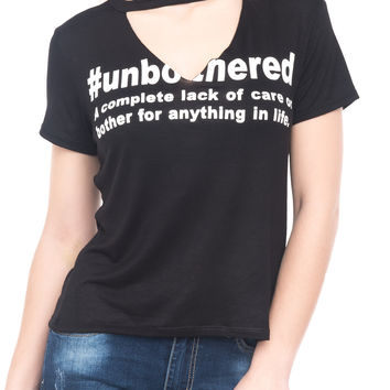 #UNBOTHERED SHORT SLEEVE TOP