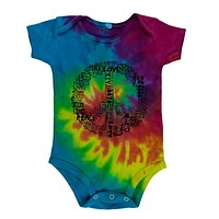 Love and Peace Sign Soft Baby One Piece