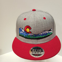 Colorado Flag Mountains Mile High Skyline Nature Embroidered  Snap Back One Size Fits All