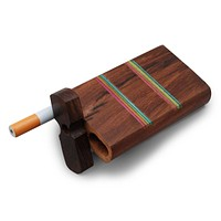 "4"" Swivel Cap Wooden Dugout - Rainbow Stripe"